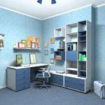Дизайн квартиры с использование голубого нежного цвета