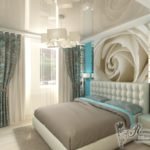 Дизайн квартиры с красивым бирюзовом цвете