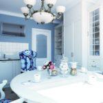 Дизайн квартиры с применение голубого цвета