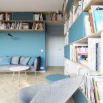 Дизайн квартиры современной бирюзовой квартиры