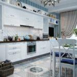 Дизайн квартиры в голубом цвете