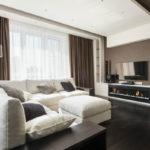 Дизайн квартиры в коричневых тонах