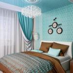 Дизайн квартиры в загадочным бирюзовом цвете