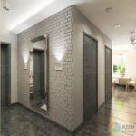 Дизайн-проект серой двухкомнатной квартиры