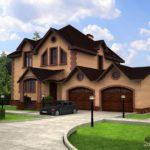 Дизайн современного коричневого цвета