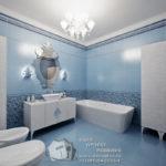 Дизайн светлой синей квартиры