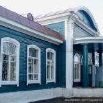 Эффектный дизайн красивого синего дома