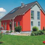 Экстерьер дома красного цвета