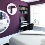 Фиолетовая квартира с красивым дизайном