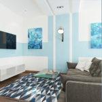 Голубой цвет квартиры