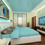 Хай-тек стиль квартиры бирюзового цвета