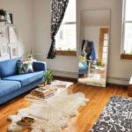 Идея дизайна синей квартиры