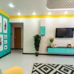 Интерьер бирюзового цвета квартиры