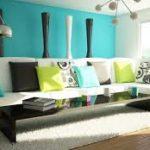 Интерьер квартиры в бирюзовом цвете