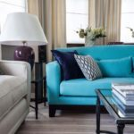 Интерьер квартиры в голубом цвете