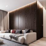 Интерьер квартиры в коричневых тонах