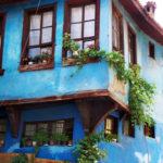 Изящный дизайн голубого дома