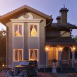 Изысканный дизайн коричневого дома