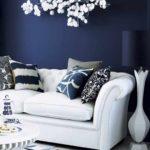 Как оформить дизайн синей квартиры
