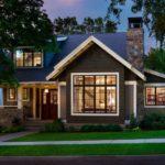 Классический дизайн дома, оформленного в черном цвете