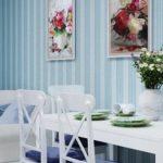 Классический дизайн голубой квартиры