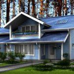 Классический дизайн синего дома