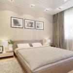 Комната в квартире с бежевым дизайном