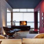 Красивая бордовая квартира