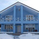 Красивый дизайн голубого дома
