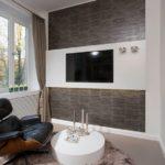 Красивый дизайн коричневой квартиры