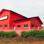 Красивый дизайн красного дома