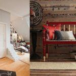 Красивый вариант дизайн квартиры бордового цвета