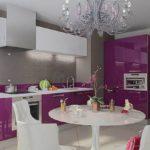 Квартира с дизайном фиолетового цвета