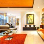 Квартира-студия в оранжевых тонах с оригинальным дизайном