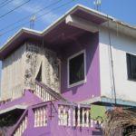 Милый дизайн фиолетового дома