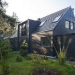 Модный дизайн черного дома