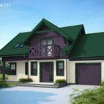 Необычный дизайн фиолетового дома