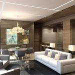 Необычный дизайн коричневой квартиры