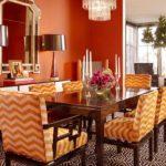 Необычный дизайн оранжевой квартиры