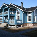 Невероятный дизайн голубого дома