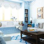 Нежный дизайн голубой квартиры