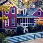 Оформить фиолетовый дом очень легко
