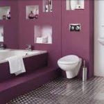 Оформление дизайна фиолетовой квартиры