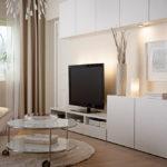Оформленный дизайн квартиры в бежевом цвете