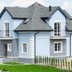 Оформляем дизайн синего дома