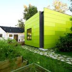Оформляем фасад зеленого дома