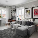 Практичный дизайн серой квартиры
