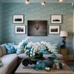 Правила оформления уютного дизайна квартиры синего цвета
