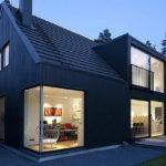 Пример дизайна дома черного цвета