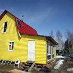 Пример дизайна дома в желтом цвете